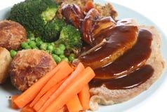 Braten-Schweinefleisch-Abendessen Stockbild