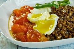 Braten-Tomaten und Linsen stockfotos