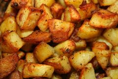 Bratenkartoffeln stockfotos