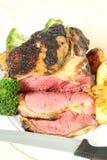 Bratenlendenstückrindfleisch-Verbindungsvertikale lizenzfreie stockbilder