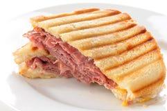 Bratenrindfleisch panini Stockfoto