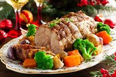 Bratenschweinefleisch mit Gemüse Lizenzfreie Stockbilder
