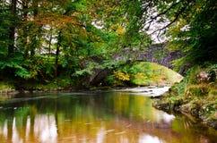 Brathay bridge. Autumn on the river Brathay Cumbria Stock Photography
