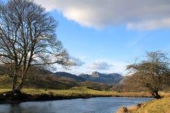 河Brathay Cumbria 免版税库存照片