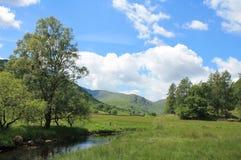 河Brathay Cumbria 库存图片