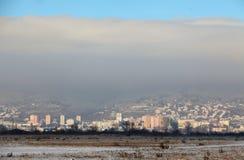 Bratislava à l'hiver images libres de droits