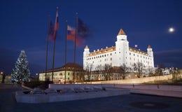Bratislava - árvore de Natal do fand do castelo Fotos de Stock