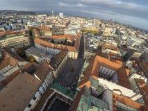 Bratislava from above Stock Photo