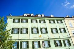 Bratislava. Ancient building with pittoresque windows ina Bratislava royalty free stock photo