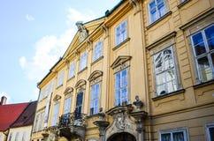 Bratislava. Ancient building with pittoresque windows ina Bratislava stock images