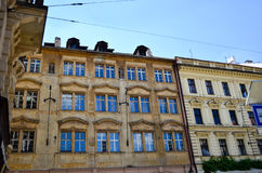 Bratislava. Ancient building with pittoresque windows ina Bratislava royalty free stock image
