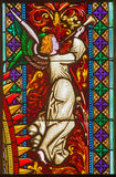 Bratislava - Angel from windowpane on west portal of st. Matins cathedral  from 19. cent. Stock Photos