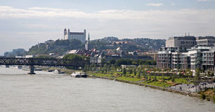 Bratislava from Apollo bridge Stock Images
