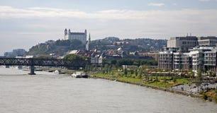 Bratislava from Apollo bridge Stock Images
