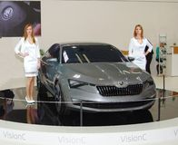 BRATISLAVA - APRIL 8: Motor Show, the biggest car event of the year in Slovakia Stock Image
