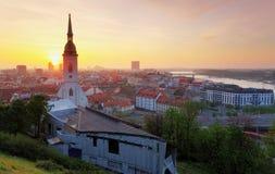 Bratislava au lever de soleil photo libre de droits