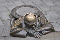 Bratislava,august 29:Cumil the sewage worker downtown of Bratislava in Slovakia Stock Photos