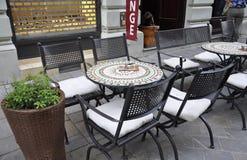 Bratislava,august 29:Downtown Terrace from Bratislava in Slovakia Royalty Free Stock Photo