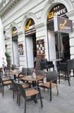 Bratislava,august 29:Downtown Terrace from Bratislava in Slovakia Royalty Free Stock Photography