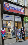 Bratislava,august 29:Souvenirs shop Downtown of Bratislava in Slovakia Royalty Free Stock Photography
