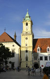 Bratislava,august 29:St Michail's Gate from Main Square of Bratislava in Slovakia Stock Images