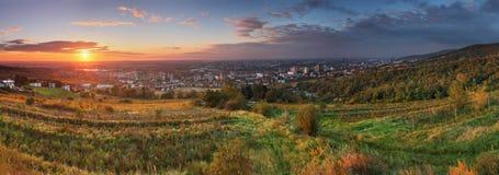 Bratislava bij zonsopgang stock foto's