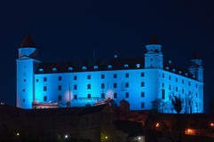 Bratislava blue castle Royalty Free Stock Images