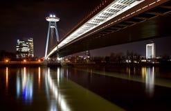 Bratislava-Brücke stockfotografie