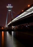 Bratislava-Brücke Lizenzfreies Stockfoto