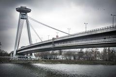 Bratislava-Brücke Lizenzfreie Stockbilder