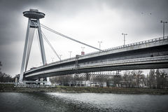 Bratislava bridge Royalty Free Stock Images