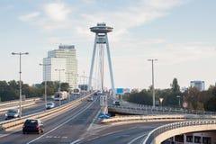 Bratislava bridge Royalty Free Stock Image