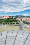 Bratislava - the capital city of Slovakia with beautiful castle, Royalty Free Stock Photography