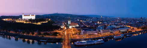 Bratislava - the capital of Slovakia Royalty Free Stock Photos