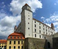 Bratislava Castle is the main castle of Bratislava stock image