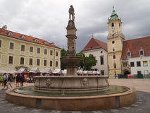 BRATISLAVA -The capital of Slovakia in 2016 SLOVAKIA stock image