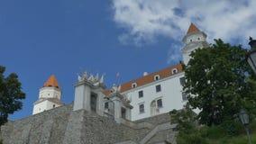 Bratislava Castel Gates almacen de metraje de vídeo