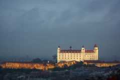 Bratislava castle. In the evening Stock Photo