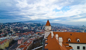 Bratislava Castle. Aerial view from the Bratislava castle Royalty Free Stock Photography