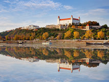 Bratislava castle at autumn, Slovakia Royalty Free Stock Photos