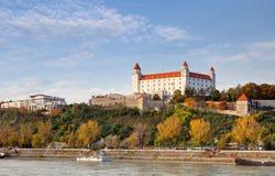 Bratislava castle at autumn, Slovakia Stock Photo