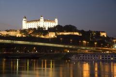Bratislava - castle and bridge Stock Photos
