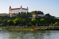 Bratislava castle in capital city of Slovak republic. Architectural theme. Cultural heritage. Travel destination. Beautiful place. Seat of power Stock Image