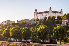 Bratislava castle in capital city of Slovak republic. Architectural theme. Cultural heritage. Travel destination. Beautiful place. Seat of power Stock Photo