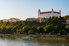 Bratislava castle in capital city of Slovak republic. Architectural theme. Cultural heritage. Travel destination. Beautiful place. Seat of power Stock Photography