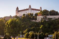Bratislava castle in capital city of Slovak republic. Royalty Free Stock Photos