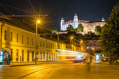 Bratislava castle in capital city of Slovak republic. Architectural theme. Cultural heritage. Travel destination. Beautiful place. Seat of power Stock Photos
