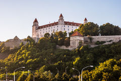 Bratislava castle in capital city of Slovak republic. Architectural theme. Cultural heritage. Travel destination. Beautiful place. Seat of power Royalty Free Stock Photo