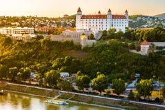 Bratislava castle in capital city of Slovak republic. Royalty Free Stock Image