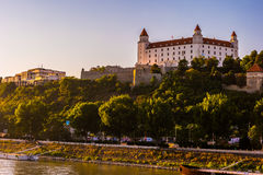 Bratislava castle in capital city of Slovak republic. Architectural theme. Cultural heritage. Travel destination. Beautiful place. Seat of power Stock Images